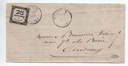 1872 - LETTRE Avec TIMBRE TAXE N° 5 De CUISEAUX (SAONE ET LOIRE) - CACHET TYPE 16 - Postage Due