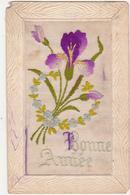 Carte Brodée / Bonne Année / Fleurs - Nouvel An
