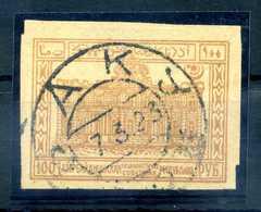 1922(23) AZERBAIGIAN N.19 USATO - Azerbaiyán
