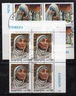 Q26 - ALBANIA 1998 , Emissione Per  Madre Teresa Di Calcutta : Serie In Quartine Usate - Albania