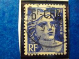 """CFA-1949-52 - Oblitéré N°299      """"  Marianne De Gandon 6F BLEU    """"     Net  0.80 - Réunion (1852-1975)"""