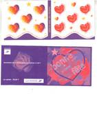 Saint-Valentin  1999  Autoadhésifs  Bande Carnet Non Pliée Des Numéros 25 Et 26 - Carnets