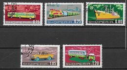 ALBANIA 1972 MEZZI PER I TRASPORTI YVERT. 1380-1384 USATA VF - Albania