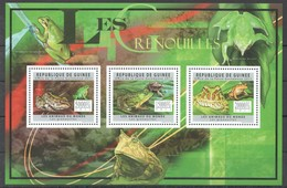 BC278 2011 GUINEE GUINEA FAUNA REPTILES FROGS LES GRENOUILLES 1KB MNH - Kikkers