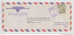 LETTRE VÉNÉZUELA CLUB DE LEONES INTERNACIONAL DE CHACAO N° 4922 CARACAS 3 AVRIL 1964 → CHICAGO USA - ESTAFETA GALIPAN - Venezuela