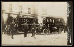 INEDIT MOSELLE SARREBOURG - GARE - TAXI AUTOCAR OMNIBUS SCHEIBLER SUR LE DEPART - Photo L. Bäuerle Saarburg /L VERS 1905 - Sarrebourg