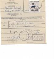 SH 0238. ECOLE POSTALE. T. Avec VALEUR CORRIGEE 15 F S/2,50 F S/MANDAT POSTAL -c. Ecole POSTALE WENDUINE 15.12.79. TB - Storia Postale