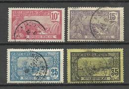 GUADELOUPE 1905-1908 Michel 56 - 57 & 59 & 61 O - Oblitérés