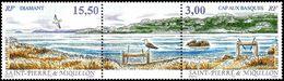1997St Pierre And Miquelon735-736stripBirds8,00 € - Albatrosse & Sturmvögel