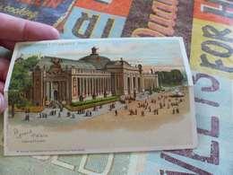 43 - CPA, Carte à Système,chevalet,  Exposition Universelle De 1900, Le Grand Palais - Expositions