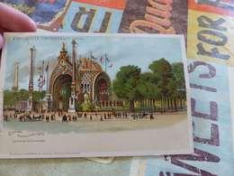 44 - CPA, Carte à Système,chevalet,  Exposition Universelle De 1900, Entrée Monumentale, Place De La Concorde - Expositions