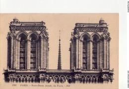 CPA - NOTRE DAME DE PARIS -  N° 12 -  1207 -  NOTRE DAME - FACADE - LES TOURS - ND - - Notre Dame De Paris