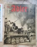 1942 WWII WW2 ADLER GERMANY ARMY MAGAZINE MILITARY NEWSPAPERS TANK SOVIET RUSSIA Kriegsflugzeug AFRICA ANTLANTIC TITANIC - Tijdschriften & Kranten