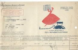 COMPAGNIE PARISIENNE De DISTRIBUTION D'ÉLECTRICITÉ Rue De Vienne Quittance 1935 Fer à Repasser Bien 2 Scans - Electricité & Gaz