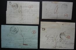 Saint Martin D'Ablois (Marne) Boite Rurale E  Lot De 4 Lettres Cad Epernay  1838 1839 1841 Et 1844 Pour Epense - 1801-1848: Précurseurs XIX