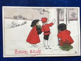 """Cpa--""""Scène Dans La Neige-Noël""""-Pauli Ebner (my Ref PE19)-1909 - Ebner, Pauli"""