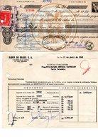 Bolivia 1969  H&A Tipo 122. Letra $b15.- Y Comprobante De Renovación De Letras Descontadas. - Bolivia