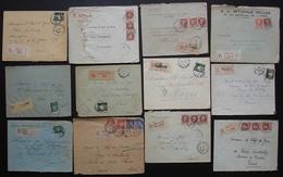 Pétain: Lot De 12 Lettres Recommandées Des Années 1940, Différentes Provenances, Voir Photos - Marcophilie (Lettres)