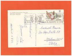 1983 ESPANA MADRID AIR MAIL POSTCARD WITH 1 STAMP TO ITALY - 1931-Hoy: 2ª República - ... Juan Carlos I