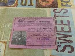 V-P 5 ,  Permis De Conduire Les Automobiles , Prefecture De L'Aude , 1936 - Documentos Históricos