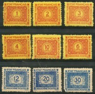 Indochine (1934) Taxe N 75 à 83 * (charniere) - Indochina (1889-1945)