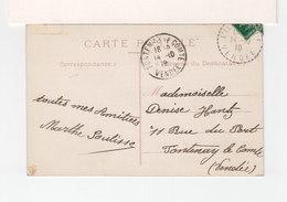 Sur CPA De LIle D'Elle CAD L'Ile D'Elle Vendée 1910. CAD Destination Fontenay Le Comte. (3494) - Postmark Collection (Covers)