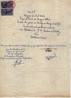 VP16.439 - 1952 - Plan De La Sté S.N.C.F Ligne De BRAYE à BLOIS - Gare De SOUGE SUR BRAYE - Embranchement à Ets BARBAS - Planches & Plans Techniques