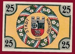 Allemagne 1 Notgeld 25 Pfenning  Stadt Nortorf  (  RARE) Dans L 'état N °5331 - Collections