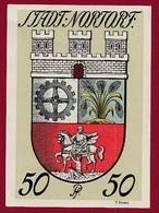 Allemagne 1 Notgeld 50 Pfenning  Stadt Nortorf  (  RARE) Dans L 'état N °5333 - Collections