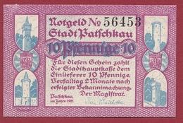 Allemagne 1 Notgeld 10 Pfenning  Stadt Patschkau (  RARE) Dans L 'état N °5334 - [ 3] 1918-1933 : Repubblica  Di Weimar