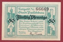 Allemagne 1 Notgeld 50 Pfenning  Stadt Patschkau  Dans L 'état N °5336 - [ 3] 1918-1933 : Repubblica  Di Weimar