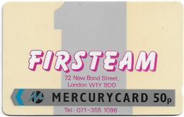 UK (Mercury) - Firsteam - 18MERD (On Black Back) - MER068 - 3.528ex, Used - Reino Unido