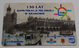 Poland Pologne Cracow Cracovie 3-month Ticket Billet 3 Mois 130 Years Ans 2005 - Europa