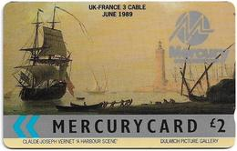 UK (Mercury) - UK-France Cable - Harbour Scene, 17MERE - MER036 - 1.589ex, Used - [ 4] Mercury Communications & Paytelco