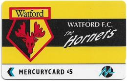 UK (Paytelco) - Football Clubs - Watford Logo - 4PFLB, 2.010ex, Used - Ver. Königreich