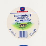 F/ETIQUETTE DE CAMEMBERT CONTINENT CLAUDEL 50 L - Cheese