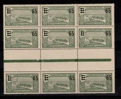Guadeloupe - YV 90 N** Gomme Coloniale En Bloc De 9 Interpanneaux Cote 12,60 Euros - Guadalupe (1884-1947)