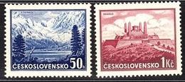 1937 Czechoslovakia Mi 384-385 ** MNH - Ungebraucht