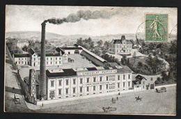 St. ETIENNE: Plan TOP Sur L'usine Du Chocolat Pupier. RARE Carte Commande Obl En 1917, Et Devient Hôpital De La......... - Saint Etienne