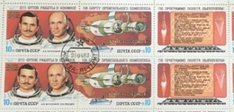 USSR Russia 1983 Block Space Search Astronaut People Salyut Sciences  Cosmonaut Sciences Stamps CTO Mi 5267-5268 - Astronomy
