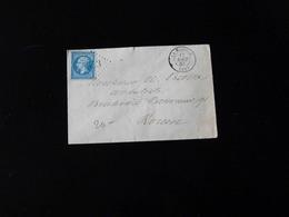 ENVELOPPE DE LA BOUILLE POUR ROUEN  -  1863  - - Marcophilie (Lettres)