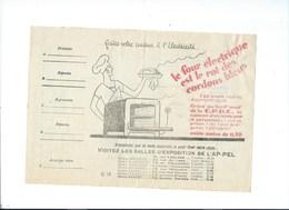 COMPAGNIE PARISIENNE De DISTRIBUTION D'ÉLECTRICITÉ Bureau DAMES Quittance 1929 Four électrique.  Bien 2 Scans - Electricité & Gaz