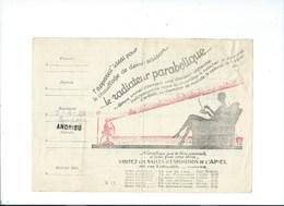 COMPAGNIE PARISIENNE De DISTRIBUTION D'ÉLECTRICITÉ Bureau DAMES Quittance 1929 Radiateur Parabolique  Bien 2 Scans - Electricité & Gaz