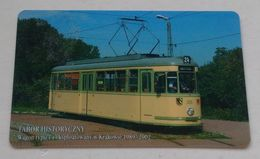 Poland Pologne Cracow Cracovie 1-month Ticket Billet 1 Mois Tramway Tram T4  2007 - Abonnements Hebdomadaires & Mensuels