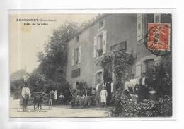 70 - AMONCOURT ( Haute-Saône ) - Café De La Côte. Belle Animation. Charrette Tirée Par Deux Anes - Francia