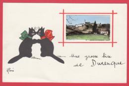 CPM-12- DURENQUE - Carte Illustrée - René - Une Grosse Bise De Durenque *SUP *2 SCAN- - Andere Gemeenten
