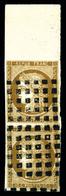 O N°1, 10c Bistre-jaune En Paire Bord De Feuille Oblitérée Gros Points Carrés. SUP (signé Scheller/certificat)  Qualité: - 1849-1850 Cérès