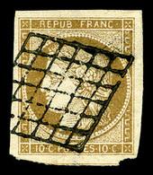 O N°1, 10c Bistre-jaune, Quatre Belles Marges Avec Un Voisin. TTB  Qualité: O - 1849-1850 Cérès