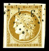 O N°1a, 10c Bistre-brun, Grandes Marges, Pièce Choisie, SUP (signé Brun/certificat)  Qualité: O - 1849-1850 Cérès