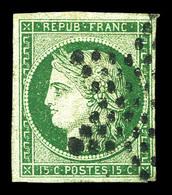O N°2, 15c Vert, Oblitération étoile, TTB (signé Margue/Thiaude/certificat)  Qualité: O  Cote: 1050 Euros - 1849-1850 Cérès